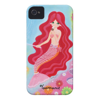 Personalized Kawaii Mermaid Dream painting iPhone 4 Case-Mate Case