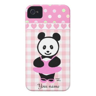 Personalized Kawaii Panda Ballet Dancer iPhone 4 Cover