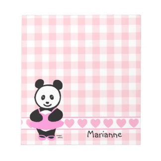 Personalized Kawaii Panda Ballet Dancer Notepads