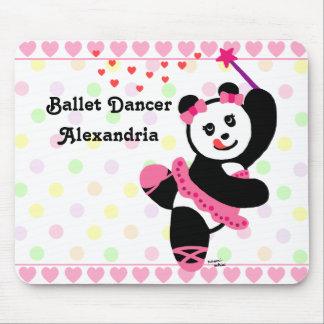 Personalized Kawaii Panda Ballet Dancer Recital Mouse Pad