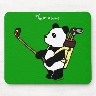 Personalized Kawaii Panda Golfer Mouse Pad