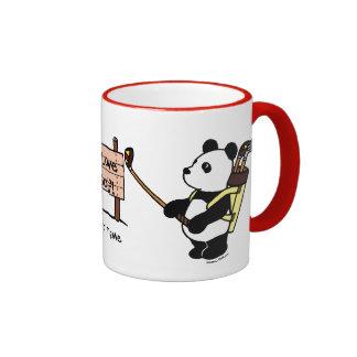 Personalized Kawaii Panda Golfer Ringer Mug