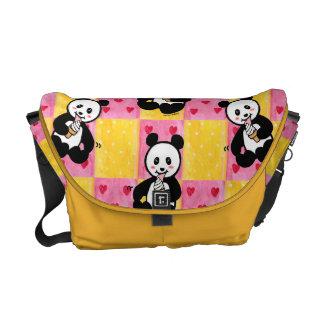 Personalized Kawaii Panda Ice Cream Cartoon Courier Bag