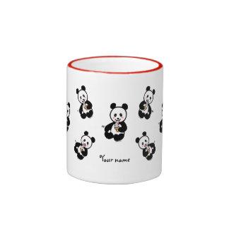 Personalized Kawaii Panda Ice Cream Cartoon Coffee Mugs