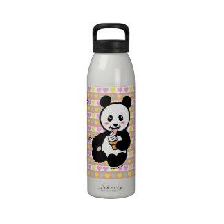 Personalized Kawaii Panda Ice Cream Cartoon Water Bottles