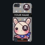 "Personalized kawaii pirate bunny iPod touch (5th generation) cover<br><div class=""desc"">Type your name in the &quot;Personalize it&quot; box to change the text on the case.</div>"