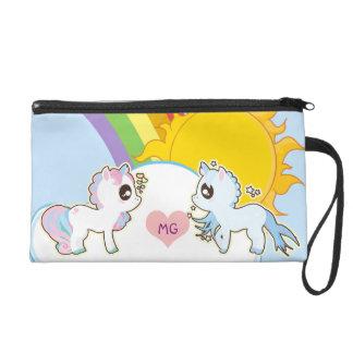 Personalized Kawaii Unicorns Rainbows Coinpurse Wristlet