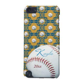 Personalized Kayla Baseball Motif Ipod Touch Case