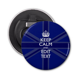Personalized KEEP CALM AND Edit Text Colorful Bottle Opener
