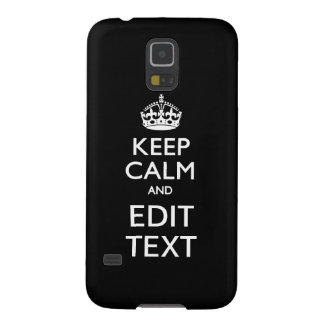 Personalized KEEP CALM AND Edit Text Galaxy S5 Cases
