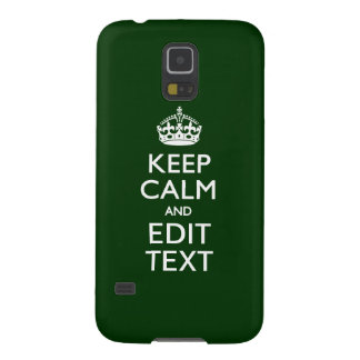 Personalized KEEP CALM AND Edit Text Green Galaxy S5 Cases