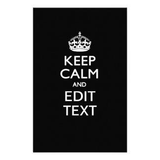 Personalized KEEP CALM AND Edit Text Invitation Flyer
