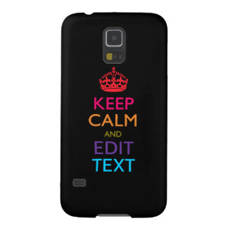 Personalized KEEP CALM AND Edit Text Multi Color Galaxy S5 Case