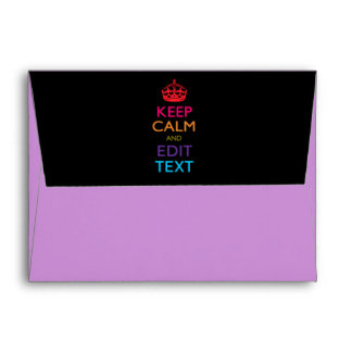 Personalized KEEP CALM AND Edit Text Multicolored Envelope