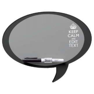 Personalized Keep Calm And Edit Text on Black Dry Erase Board