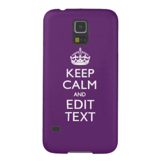 Personalized KEEP CALM AND Edit Text on Purple Case For Galaxy S5