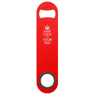 Personalized KEEP CALM AND Edit Text on Red Bar Key