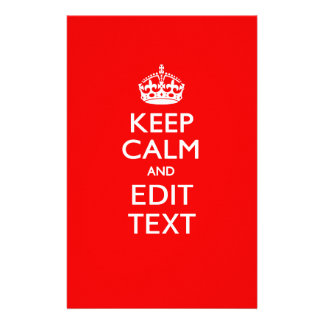Personalized KEEP CALM AND Edit Text on Red Flyer