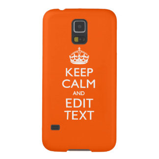 Personalized KEEP CALM AND Edit Text Orange Galaxy S5 Case