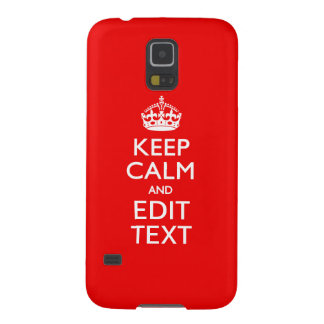 Personalized KEEP CALM AND Edit Text RED Classic Galaxy S5 Cover