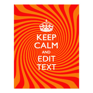 Personalized KEEP CALM AND Have Text Orange Swirl Flyer