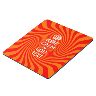 Personalized KEEP CALM AND Have Text Orange Swirl Puzzle Coaster