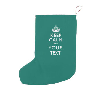 Personalized KEEP CALM AND Your Creative Text Small Christmas Stocking