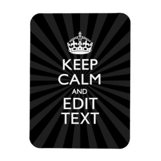 Personalized KEEP CALM and your text Creative Magnet