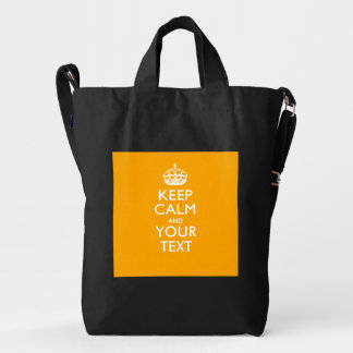 Personalized KEEP CALM And Your Text Design Duck Bag