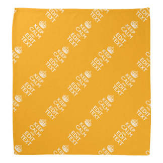 Personalized KEEP CALM AND Your Text for Yellow Bandana