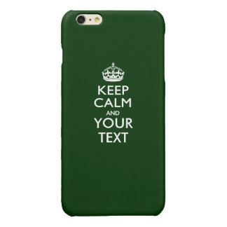 Personalized KEEP CALM AND Your Text Glossy iPhone 6 Plus Case