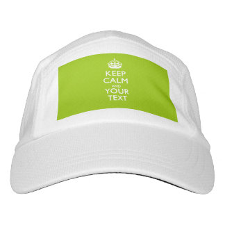 Personalized KEEP CALM AND Your Text Headsweats Hat