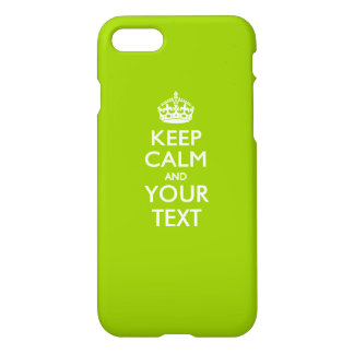 Personalized KEEP CALM AND Your Text iPhone 7 Case