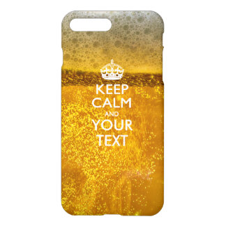 Personalized KEEP CALM AND Your Text iPhone 8 Plus/7 Plus Case