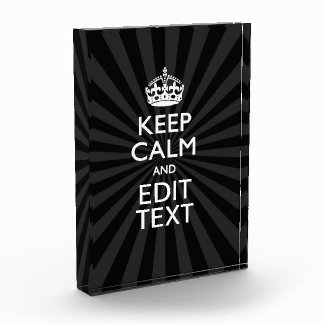 Personalized KEEP CALM and your text on burst Awards
