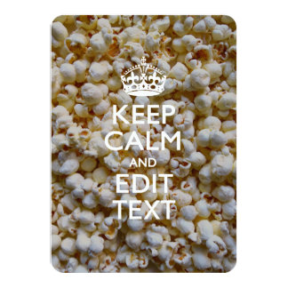 Personalized KEEP CALM AND Your Text on Popcorn Card