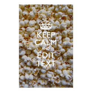 Personalized KEEP CALM AND Your Text on Popcorn Flyer