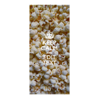 Personalized KEEP CALM AND Your Text on Popcorn Rack Card