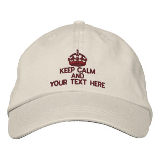 Personalized KEEP CALM AND Your Text Original Baseball Cap