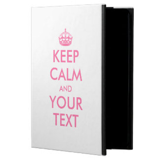 Personalized KEEP CALM and YOUR TEXT - PINK words Powis iPad Air 2 Case