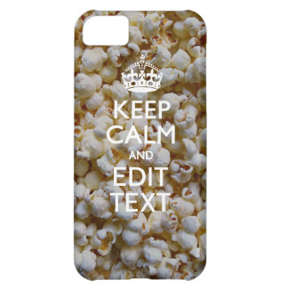 Personalized KEEP CALM AND Your Text Popcorn Case For iPhone 5C