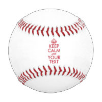 Personalized KEEP CALM and YOUR TEXT - red Baseball