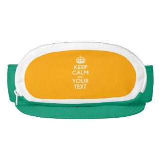 Personalized KEEP CALM AND Your Text Visor