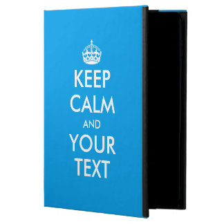 Personalized KEEP CALM and YOUR TEXT - WHITE words Powis iPad Air 2 Case