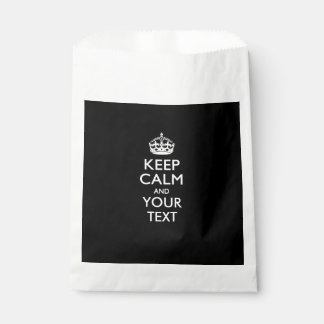 Personalized KEEP CALM Change Background Color Favor Bag