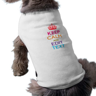 Personalized KEEP CALM Your Text Multicolored Shirt