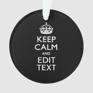 Personalized KEEP CALM Your Text on Black