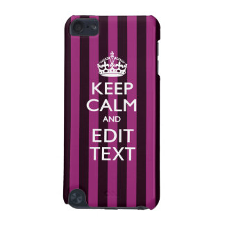 Personalized KEEP CALM Your Text on Pink Fuchsia iPod Touch (5th Generation) Covers