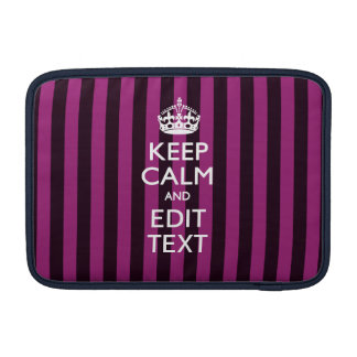 Personalized KEEP CALM Your Text on Pink Fuchsia Sleeve For MacBook Air