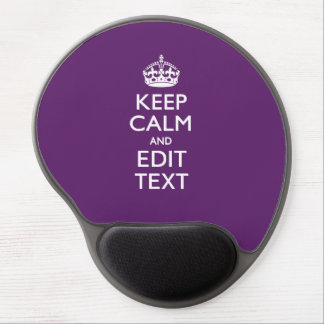 Personalized KEEP CALM Your Text on Purple Decor Gel Mouse Pad